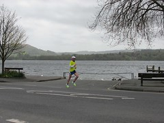 2nd on road Malc (Annie-Sue Jyelra) Tags: yellow slow marathon running runners gusty ambleside windermere waterhead brathay 10in10 brathaytrust