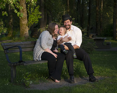 (Jenni-) Tags: park family trees portrait baby canada grass vancouver bench children mom parents kid toddler couple dad child bc married britishcolumbia father birth group mother marriage son burnaby fraserriver newwestminster threepeople familyportait