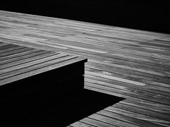 Shadow and Light (rasmusm) Tags: wood light shadow bench dock malmoe malm malmo