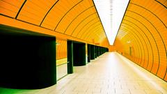 Munich Underground (bior) Tags: orange underground subway munich panasonic panasonicdmctz5