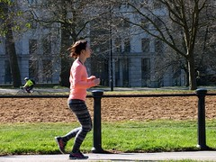 Rotten Row Runner (Waterford_Man) Tags: park trees people london girl path run jogging runner jog jogger rinng
