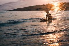Be Sunlight (Hayden_Williams) Tags: ocean travel light sunset sun sunlight film beach girl silhouette analog canon vintage coast sand asia waves kodak doubleexposure tide grain hipster taiwan retro multipleexposure shore fd50mmf18 indie analogue canonae1 kenting kodakektar ektar100
