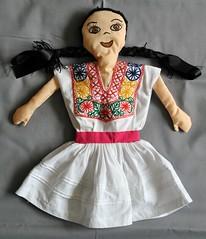 Zapotec Doll Solaga Oaxaca Mexico (Teyacapan) Tags: mexico clothing dolls mexican textiles ropa sierrajuarez munecas zapoteca solaga