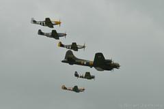 Duxford VE Day Anniversary Air Show Formation (Bri_J) Tags: nikon wwii formation airshow b17 duxford mustang wildcat flyingfortress fm2 p51 iwm p40 warhawk usaaf f4f d3200 martlet vedayanniversary