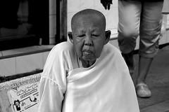 People of Bangkok (Daniel Nebreda Lucea) Tags: people gente bangkok asia asian old viejo black white blanco negro monochrome street calle city ciudad urban urbano travel viajar portrait retrato man hombre monk monje canon shadows sombras light luz