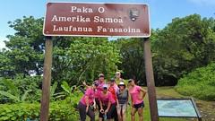 Hiking Mount Alava Trail in NP of American Samoa