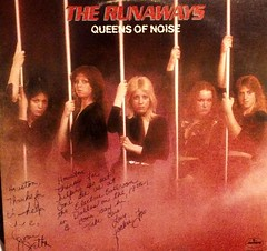 The Runaways-Joan Jett, Jackie Fox 70's Autographed Lp (trinacolada world) Tags: joan jett runaways autograph rock music record cover lp 70s vintage band