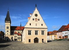 Bardejov, Slovakia (petrk747) Tags: bardejov slovakia nordeasternslovakia town historicaltown square plaza monument church gothic houses gothicstyle churchstaegidius townhall heaven travelling