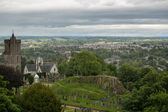 View of Old Town Stirling from Stirling Castle (IceNineJon) Tags: unitedkingdom scotland stirlingshire stirlingcastle greatbritain stirling oldtowncemetery photography canon5dmarkiii europe churchoftheholyrude cowaneshospital 5dm3 britain uk esplanade oldtown castle church cemetery cloud clouds
