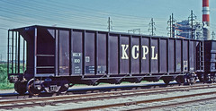 KCLX 100 all steel coal hopper-Kansas City, Missouri. (Wheatking2011) Tags: kclx kansas city power light company missouri all steel coal hopper 35mm slide converted digital image
