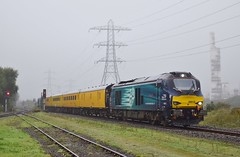 68016 at Margam. 28/9/16 (Nick Wilcock) Tags: railways wales class68 vossloh drs directrailservices testtrain 1q16 landore derby rtc margamyard 68016 fearless