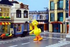 Big Bird (Hobbestimus) Tags: lego kubrick sesamestreet bigbird muppets toys 80s tv