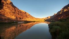 Colorado River (dylangaughan43) Tags: coloradoriver utah reflection river water rockformations moab