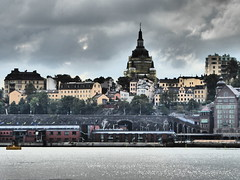 Rough Times Ahead II (m_artijn) Tags: sdermalm stockholm se church scaffolding cloud dark omen rough