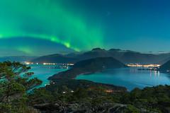 Aurora (dan.kristiansen) Tags: aurora auroraborealis northernlights nordlys storsundet skorpo skorpefjellet kvinnherad sunnhordland norway norge landscape landskap night nightsky nattehimmel natt stars stjerner melderskin