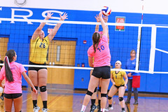 IMG_10209 (SJH Foto) Tags: girls volleyball high school lampeterstrasburg lampeter strasburg solanco team tween teen east teenager varsity net battle spike block action shot jump midair
