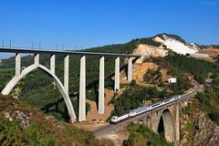 ARCO Camino de Santiago. Viaducto de Gundin (rapidoelectro) Tags: 334 arco caminodesantiago ulla viaducto ro puente gundin gundian corua bilbao galicia pasvasco lav ave