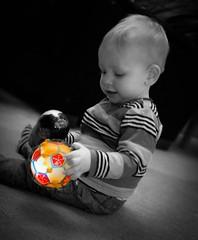 Colour Ball (PaulEBennett) Tags: boy child selectivecolour colourpop