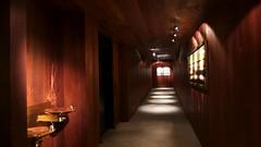 _1410187_edit (Lynn Friedman) Tags: amanresorts amangani jackson wyoming hallway wood reclaimed guestrooms bubblers spotlights carpet ceiling inside nobody