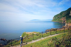 Tachimachi Cape (Gai) Tags:    hakodate hokkaido japan   summer  cape   sea ocean  mountain  island    blue sky