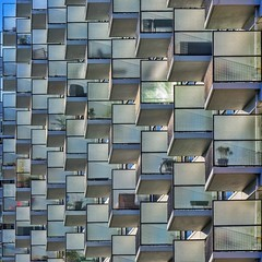 Boxes of Life (Paul Brouns) Tags: architecture architectuur architektur    balconies balcony balkon rotterdam nederland netherlands zuid holland south centre center perspective rhythm sun sunlight silhouette square squares cube cubes geometry geometrical geometric repetition abstract paulbrouns paulbrounscom