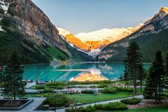 Sunrise on Lake Louise - 1 (remake) (Roa!) Tags: canada ab lake louise banff national park sunrise