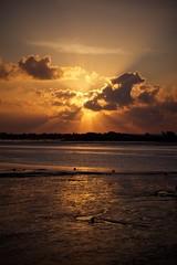 Sunburst (Future-Echoes) Tags: 5star 2011 beams black cloud essex heybridge heybridgebasin light reflection silhouette sunrise water
