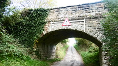 Bridge over Field Lane (from road) Burniston (Scarborough - Whitby  old railway) (dave_attrill) Tags: scarborough whitby disused line trackbed route cinder path dr beeching report 1965 ner north eastern railway october 2016 bridge burniston field lane