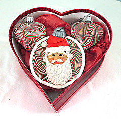 red santa ornaments 2016 (playsculptlive) Tags: pcagoe polymerclay xmasornament