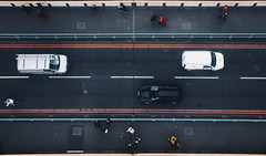 from above (desomnis) Tags: urban london street streetphotography cars fromabove uk england europe people towerbridge desomnis canon6d 6d tamronsp2470mmf28