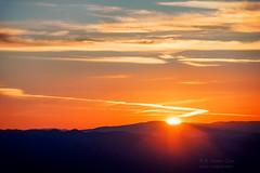 Sunset (inlightful) Tags: sunrise sunset sun sunny sunshine sunrays sunbeams contrails clouds sky evening morning mountains rural southwest newmexico socorrocounty magdalena mro essp enchantedskiesstarparty magdalenaridgeobservatory