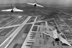 VF-74 F4D-1 Skyrays (skyhawkpc) Tags: navy aircraft aviation naval vought vf74bedevilers f4d1 skyray inflight nasmiramar 1956 officialusnavy