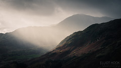 Courting the squall (elliot.hook) Tags: langdales side pike squall rain sleet showers sun light ray beam storm could stormy landscape uk british cumbria lake district