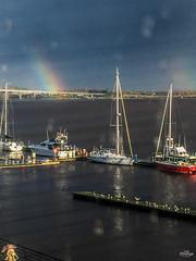 Day321Raindrops and Rainbows Through the Window (ladystrange19) Tags: londonderry northernireland unitedkingdom gb