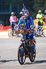Any given Sunday 529 (L Urquiza) Tags: bike street cyclist reforma cruz azul sports fan mexico city ciudad cdmx paseo