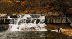Fishing (mulveyraa2) Tags: exported fingerlakes landscape water waterfall ithaca lake river fishing fishermen fall autumn reds flow sunset