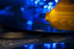 Beatles Yellow Submarine on vinyl (Jolanda N.) Tags: macromondays bokeh sigma105mm28 macro nikond90 table top beatlesbeetles beatles