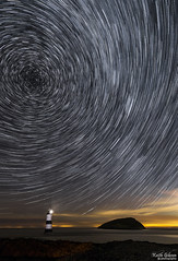 Starry Starry Night (wiganworryer) Tags: wiganworryer canon6d star trails penmon lighthouse milky way canon 6d 1635 16 35 f4 lens l series is light house anglesey north wales sea puffin island clouds pollution sky tracking black point