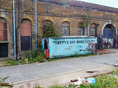 They've Got More Choices (Kombizz) Tags: 1120478 kombizz london 2015 thamesbarrier movablefloodbarrier riverthames floodplain hightides isleofdogs silvertown londonboroughofnewham rogerwalters theyvegotmorechoices oldbuilding oldcontainer derelictbuilding derelict building