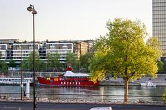 Batofar (georgemoga) Tags: bercy boat lamp paris river seine tree water ledefrance france fr