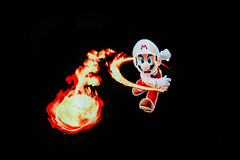 mario (timp37) Tags: mario light painting pixel stick january 2015 worth harry bus yourell throwing fireball