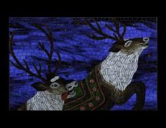 Postcard Give Away (cbmosaics - Christine Brallier) Tags: santaclaus reindeer christmas holiday art mosaics stainedglass mosaic postcards book thenightbeforechristmas giveaway cbmosaics
