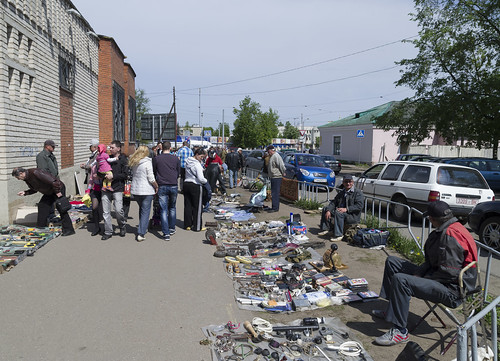 Flea market on the street, 17.05.2014.