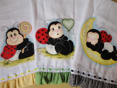 DSC02456 (Vanessa Pintura Tecido) Tags: decorao prato guardanapo joaninhas panodecopa