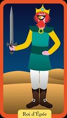 Roi d'Épée (aluniverse) Tags: bâtons coupes épées deniers tarotdemarseille arcanesmineurs arcanemineur 56cartes