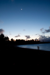 make this go on forever (bysleightofhand1) Tags: ocean blue sunset sea sky moon seascape water make landscape island this hawaii long exposure go maui forever