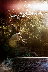 Skater (Matthew Williamson Photography) Tags: street sunset sun colour grafitti awesome brisbane dreams flare skater trick grab