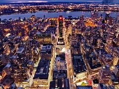 Above the Skyscrapers (Astro Zhang Yu) Tags: above city nyc newyorkcity bw ny skyscraper empirestatebuilding rockefeller metropolitan topoftherock