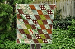 Quilt (emmmylizzzy) Tags: boy baby brown tree green bird quilt plaid woodsy parallelogram