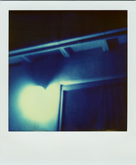 heart. home. (smalldogs) Tags: longexposure family blue love home polaroid sx70 happy heart bluelight heartshaped theimpossibleproject